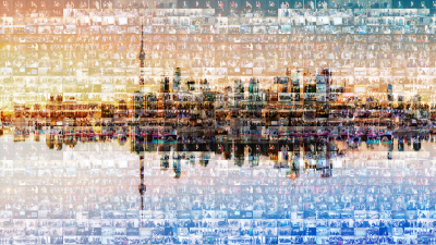 Toronto skyline photo mosaic