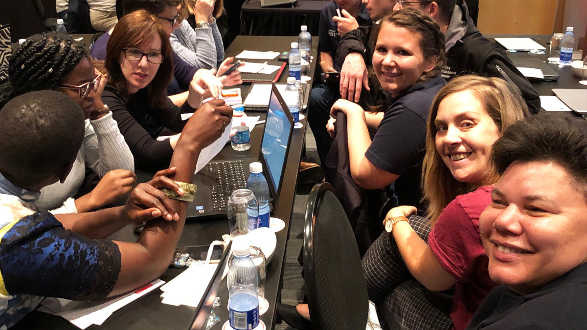 Students at the Student Event during SETAC Cape Town