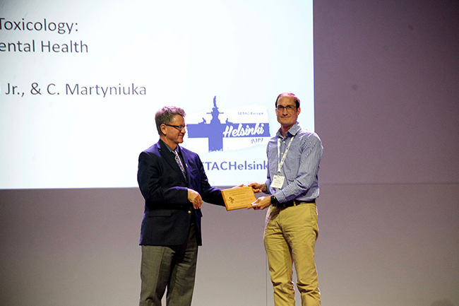 ET&C Best Paper Award winner Ondrej Adamovsky