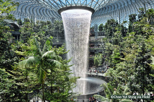Jewel waterfall at Singapore airport