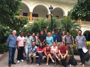 Short course participants in gardens of St. Augustin Cloister
