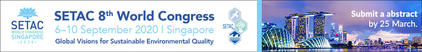 Submit an abstract by 25 March for SETAC Singapore